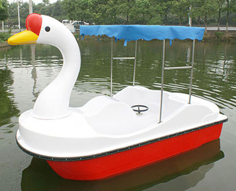 Electric swan paddle boat for pool