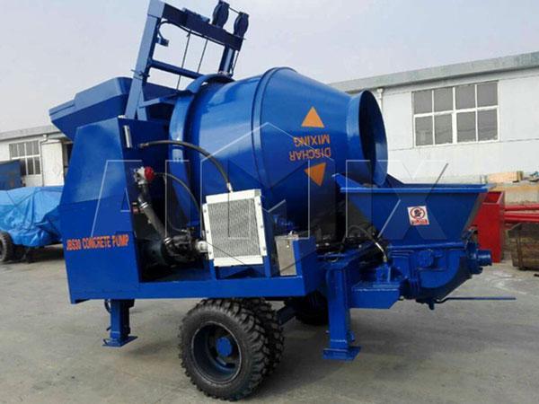 JBS40-JS500 concrete mixer with pump
